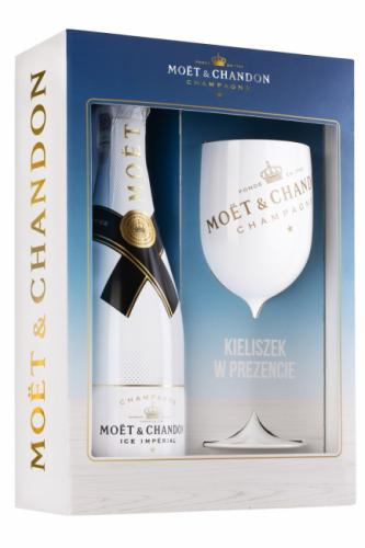 MOET&CHANDON ICE IMPERIAL 750ML + KIELISZEK